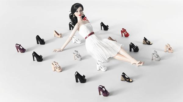 Louis Vuitton doll shoes
