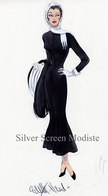 Edith Head sketch Norma Desmond