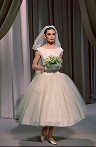 Audrey Hepburn in funny face bridal gown 2