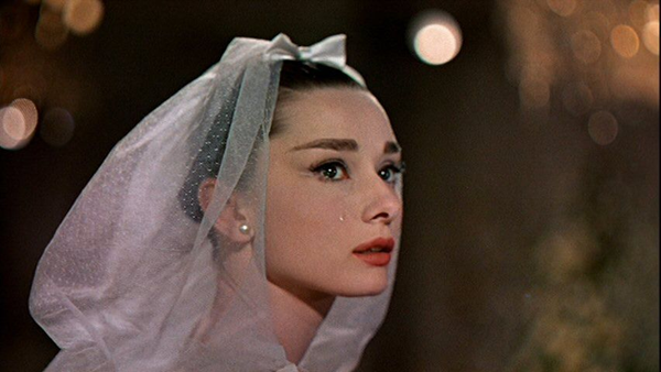 Audrey Hepburn in funny face bridal gown 3