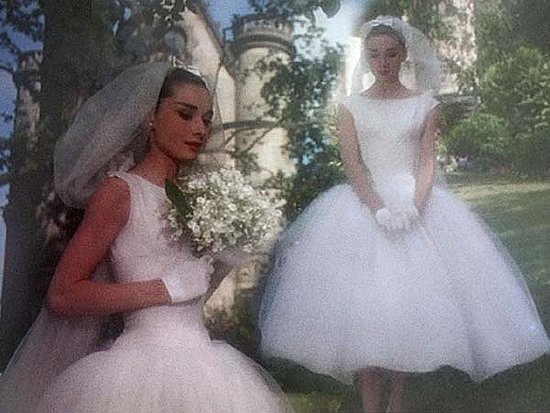 Audrey Hepburn in funny face bridal gown 4