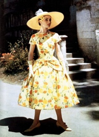 Audrey Hepburn in funny face flower shop