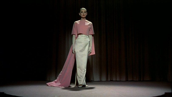 Audrey Hepburn in funny face pinkwhite gown 1