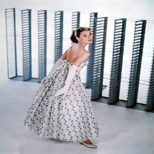 Audrey Hepburn in funny face whiteblack 1