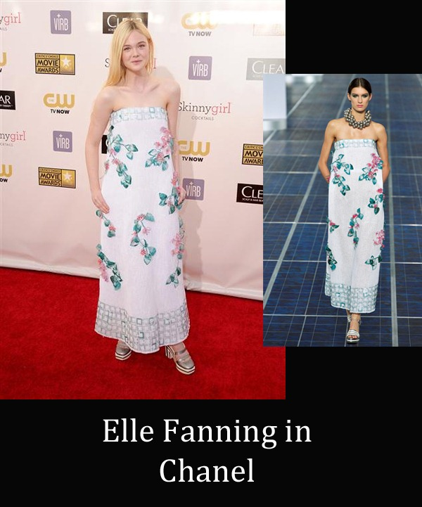 Elle Fanning in Chanel copy