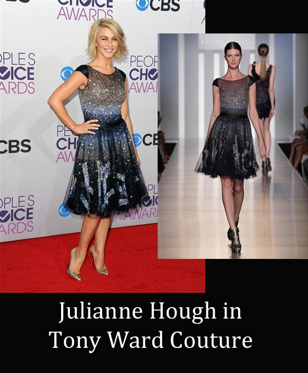 Julianne Hough in Tony Ward Couture copy