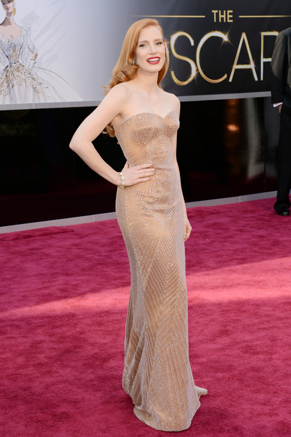 Jessica Chastaine in Armani Privee