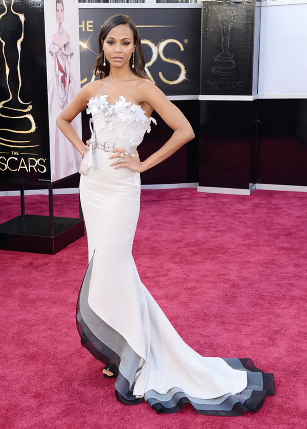 Zoe Saldana in Alex Mabille Couture