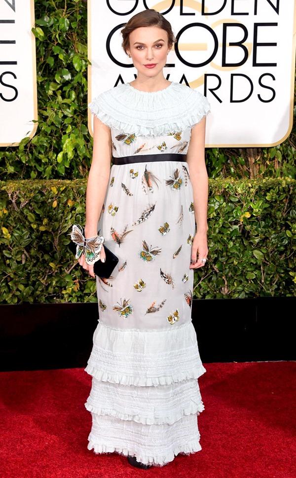 Keira Knightley in custom Chanel eonline