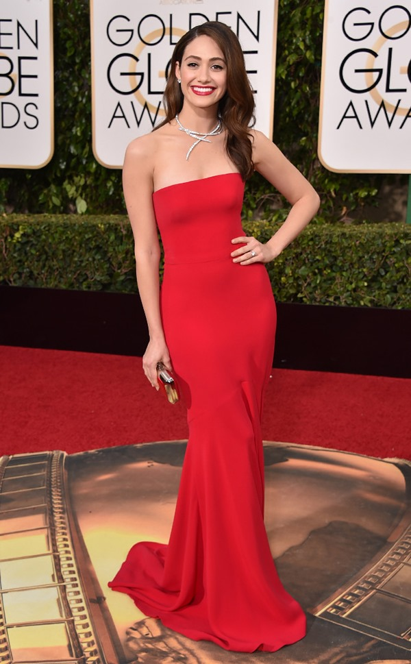 emmy-rossum in Armani Prive from Eonline