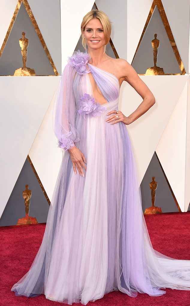 oscars-academy-awards-heidi-klum in Marchesa