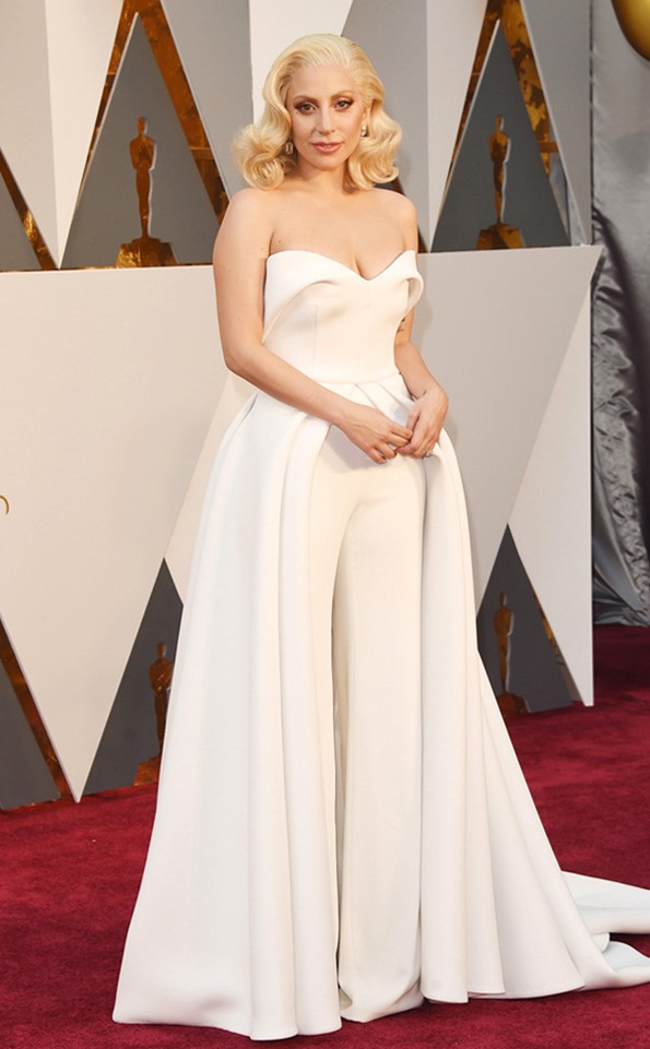 oscars-academy-awards-lady-gaga in Brandon Maxwell