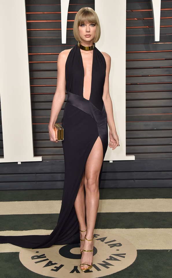 Taylor-Swift-Vanity-Fair-Oscar-Party in Alexandre Vauthier