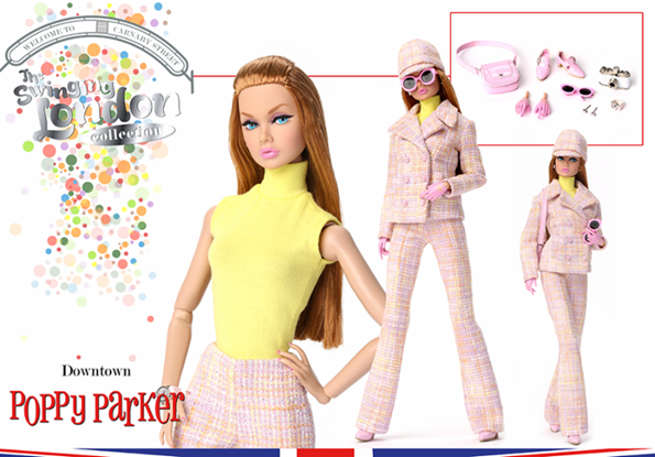 INTEGRITY TOYS POPPY PARKER DOWNTOWN PASTEL TWEED PANTS NEW
