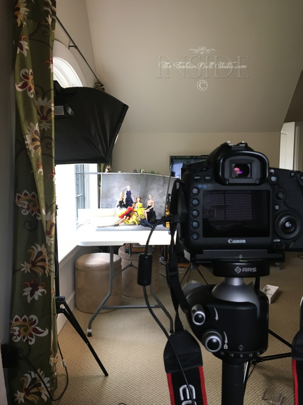 ©2018 Inside The Fashion Doll Studio-The Elyse Portrait - Behind the Scenes