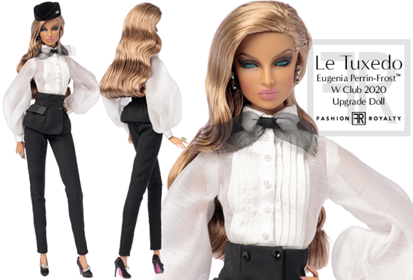 """DRESS FROM MADEMOISELLE EDEN 12/"""" LTD WCLUB EXCL NU FACE FASHION ROYALTY DOLL"""