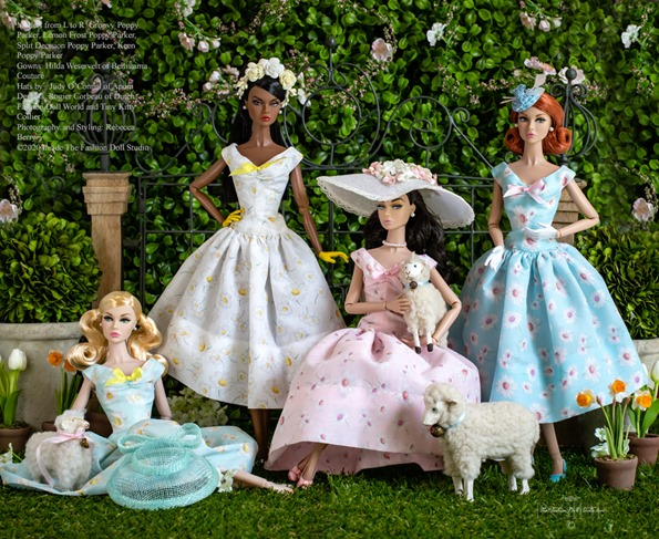 ©2020 Inside the Fashion Doll Studio-Celebrating Easter with Poppies and Dasies